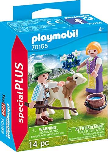 Playmobil 70155Special Plus Niños con kälbchen, Multicolor