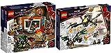 BRICKCOMPLETE Lego 76185 Spider-Man en el taller Sanctum y 76195 Spider-Mans Drone duell