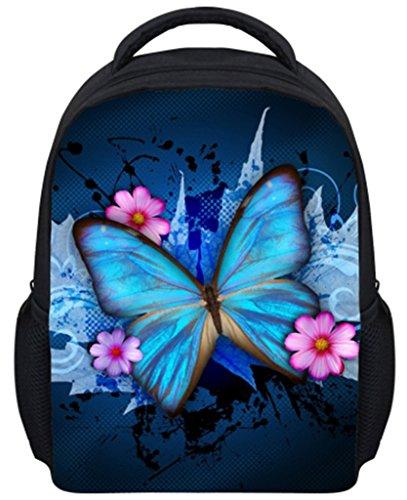 Dellukee Pre School Backpack Butterfly Pattern Best Lightweight Toddler Book Bag