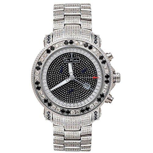 Joe Rodeo del diamante del reloj del cuarzo de los hombres - JUNIOR de plata 13,25 ctw
