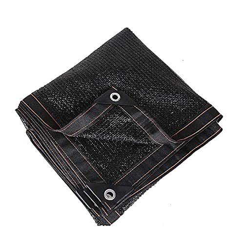 Malla De Tela Para Sombra Con Bloqueador Solar 85% Malla De Tela Resistente A Los Rayos UV Para Tela De Sombra De Invernadero Borde Con Cinta Adhesiva Con Ojales Incluidos, Negro, 3x5m(Size:2X3M)