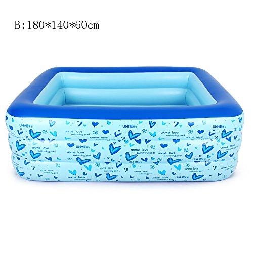 KTYX Piscina for niños Piscina for bebés Juego for niños Piscina Familiar Bola Extra Grande for Uso Marino (Color : B:180 * 140 * 60cm)