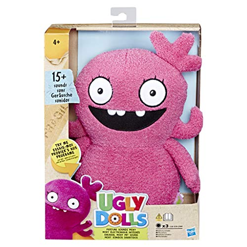 Ugly Dolls- Feature Sounds Moxy Plush, Multicolor (Hasbro