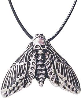 BMBN Skull Head Moth Ketting, Modieuze Halloween Dode Hoofd Schedel Hanger Ketting Met Ketting Sieraden Choker Geschenken ...