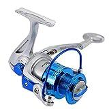 Lixada Moulinet de Pêche, 8BB roulements à billes gauche / droite interchangeable Poignée pliable moulinet spinning ST4000 5.1:1