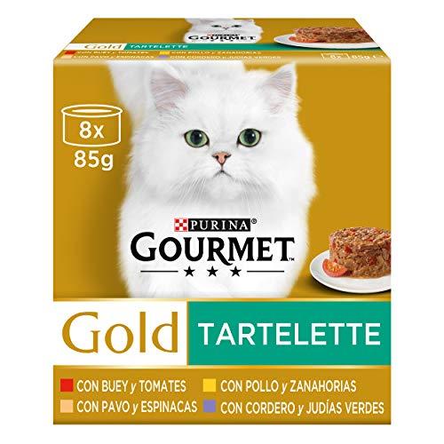 Purina Gourmet Gold Tartalette comida para gatos Surtido 12 x [8 x 85]