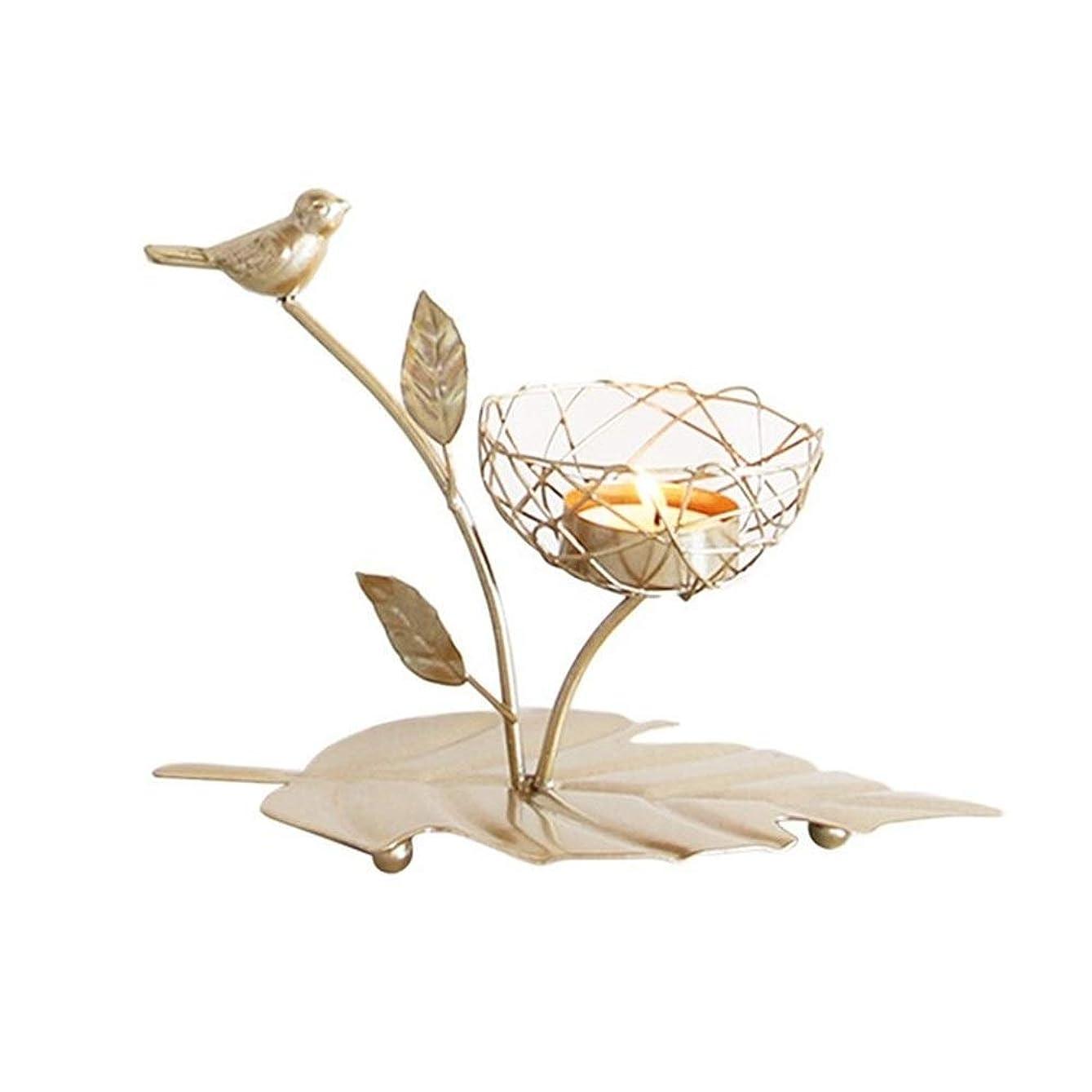 のためにぜいたくクロールキャンドルホルダー北欧の錬鉄製の燭台鳥の香りのキャンドルホルダー結婚式のダイニングテーブルの装飾キャンドルスタンド燭台スタンド(色:C)