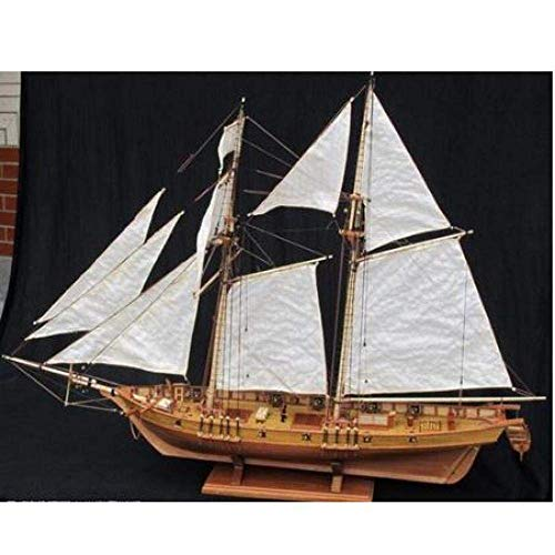 XIUYU Wohnzimmerdekorationen Chem Sailboat Modell Maßstab 1/96 Classics Holzsegelboot Modellbausätze 1847 Holzschiff Bausatzkit Lernspielzeug