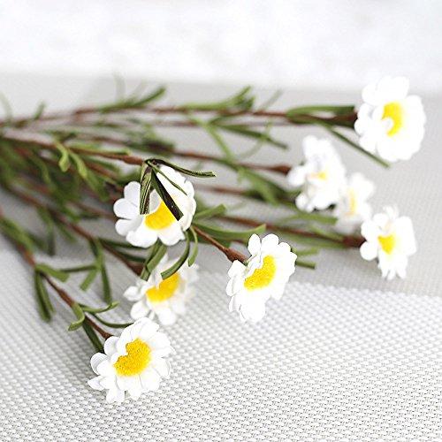 Hunpta @ 8 Köpfe Gänseblümchen Künstliche Blumen Blatt DIY Haus Büro Balkon Garten Hochzeit Party Valentinstag Muttertag Deko Inneneinrichtungen Blumenarrangement