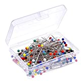 100 Pieces Push Pins, Sewing Pins, Sraight Pins, Quilting Pins for Sewing Accessories and Supplies, Pin Cushion, Jewelry, Dressmaker, Decoration