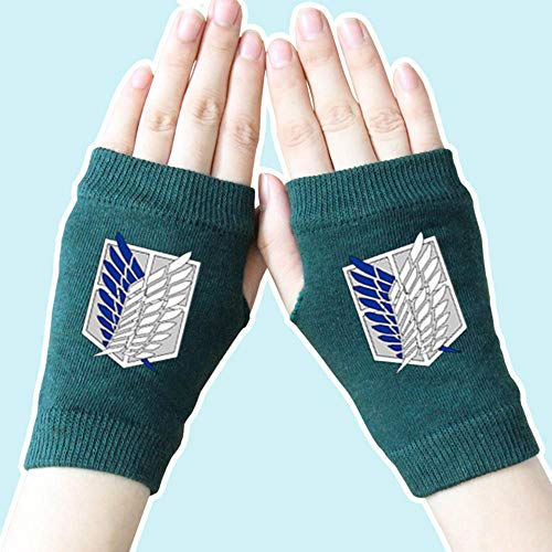 Anime Cosplay Attack on Titan Wings of Liberty 2021 New Icon Gloves Cotton Thumb Gloves Spring Winter Warm Cycling Skating Gloves Children Boys Girls Gifts