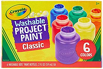 Crayola Washable Kids Paint 6 Count Kids At Home Activities Painting Supplies Gift Assorted