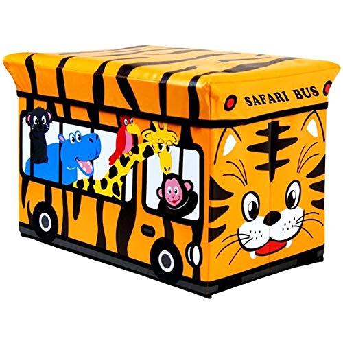 LXDDP Rangement Jouet Rembourré Kids Box Banc Banquette Safari Bus Coffre pour Enfants, Le Vendredi Noir
