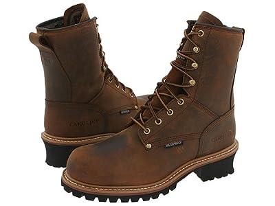 Carolina Isulated Elm Waterproof Plain Toe Logger CA4821 (Copper Crazyhorse) Men