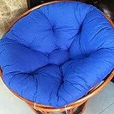 ZAIPP Papasan Chair Cushion,Overstuffed Chair Cushion,Comfortable Oversized Papasan Pad,Tufted Swing Rattan Chair Cushion,Thick Round Cushion Royal Blue 50x50cm(20x20inch)