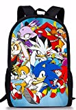 Ange Sonic Mochila Bolsas De La Escuela Sonic The Hedgehog Print School Backpack For Girls Orthopedic Schoolbag Backpacks Children Book Bag