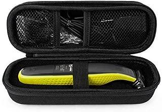 QSHAVE Hard Travel Case for OneBlade Hybrid Electric Trimmer Shaver, QP2520 QP2570 Organizer Carrying Bag Cover Storage (Black)