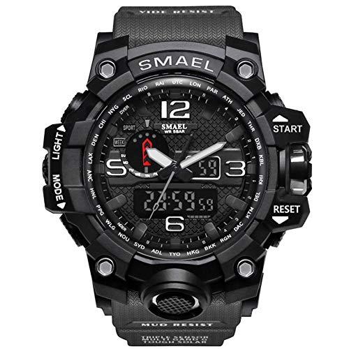 Tofree Wasserdichte Herren Sportuhr Mechanische Uhr Multifunktionale Digitaluhr für Outdoor, grau