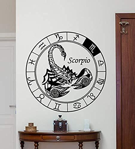 Wandaufkleber Skorpion Wandtattoo Astrologie Horoskop Skorpion Vinyl Aufkleber Wandkunst Design Wanddekoration Kinderzimmer Schlafzimmer Dekor 60X60Cm