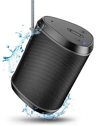 Cocoda Altavoces Bluetooth Portatiles, Mini Altavoz Inalambricos con Sonido Estéreo, Graves Enriquecidos, 18m Bluetooth Distancia, Micrófono Incorporado, Tarjeta TF/Aux Compatible, IPX6 para Exterior