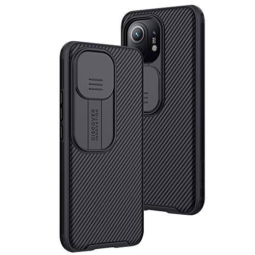 XTCASE für Xiaomi Mi 11 Hülle, Ultra Dünn Handyhülle mit Kameraschutz - Kamera Schutz mit Schieber, Premium Hybrid PC + TPU rutschfest Stoßfest Kratzfest - Schwarz