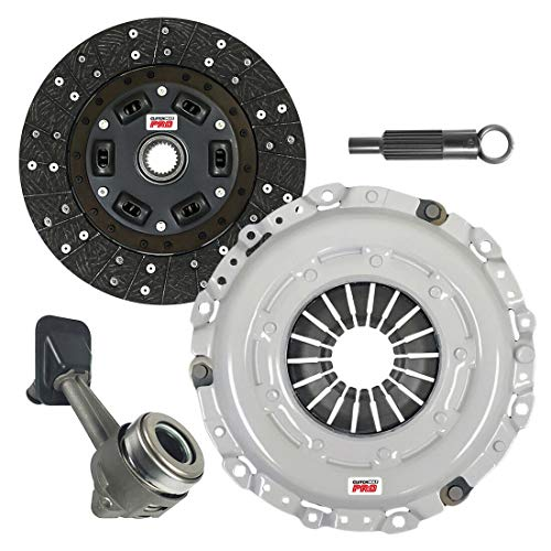 ClutchMaxPRO Performance Stage 2 Clutch Kit with Slave Cylinder Compatible with 2000-2004 Ford Focus SE ZTS ZTW ZX3 ZX5 2.0L DOHC (CP07164HDWS-ST2)