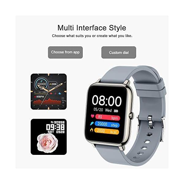 51spZPidv1L. SS600  - Judneer Smartwatch, 1.4 Zoll Touch Farbdisplay Fitness Watch, Fitness Tracker Sportuhr, Fitnessuhr mit IP67 Wasserdicht und Schrittzähler, Pulsmesser und Schlafanalyse Smart Watch für Damen Herren