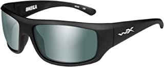 Wiley-X ACOME06 Omega Sunglasses Polarized Green Platinum Flash, Black