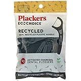Plackers, EcoChoice, hilo dental de carbón activado, menta fresca, 90 unidades