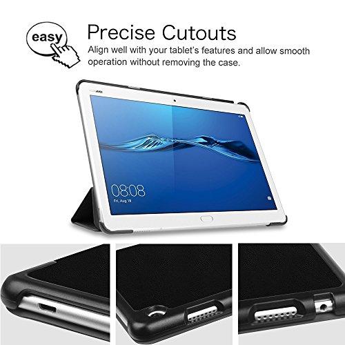 Fintie Huawei Mediapad M3 Lite 10 Hülle - Ultra Dünn Superleicht SlimShell Case Cover Schutzhülle Etui Tasche mit Zwei Einstellbarem Standfunktion für Huawei Mediapad M3 Lite 10 Zoll, Don't Touch - 6