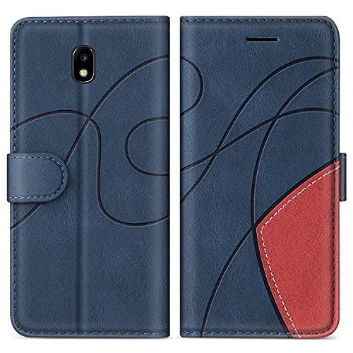 SUMIXON Cover per Galaxy J3 2017, Custodia in PU Pelle per Samsung Galaxy J3 2017, Portafoglio Cover a Libro con Chiusura Magnetica e Slot per Carte, Blu