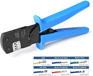 IWISS IWS-3220M Micro Connector Pin Crimping Tool 0.03-0.52mm² 32-20AWG Ratcheting Crimper for D-Sub,Open Barrel suits Molex,JST,JAE
