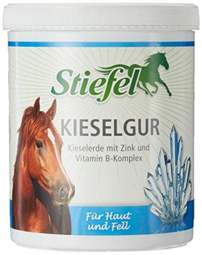 Stiefel Kieselgur 1 kg mit Kieselerde+Zink+Vitamin B Komplex für Pferde u. Isländer bei Haut und Fellproblemen | Kieselerde