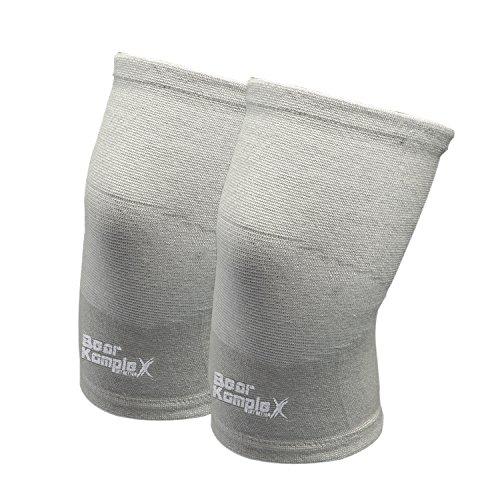 Bear KompleX Kniebandagen mit Kompression - 1 Paar als Stütze beim Laufen, Fitness- & Krafttraining - ideal für Crossfit-Training, Gewichtheben, Wrestling Squats & Fitnessstudio - Männer und Frauen