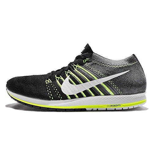 NIKE Unisex Flyknit Racer Running Shoe (5 D(M) US, Black/White-Dark Grey-Volt)