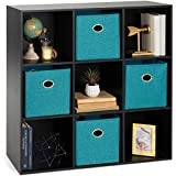 Best Choice Products 9-Cube Storage Shelf Organizer Bookshelf System, Display Cube Shelves Compartments, Customizable W/ 3 Removable Back Panels