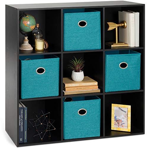 Furinno 7-Cube Reversible Open Shelf, White