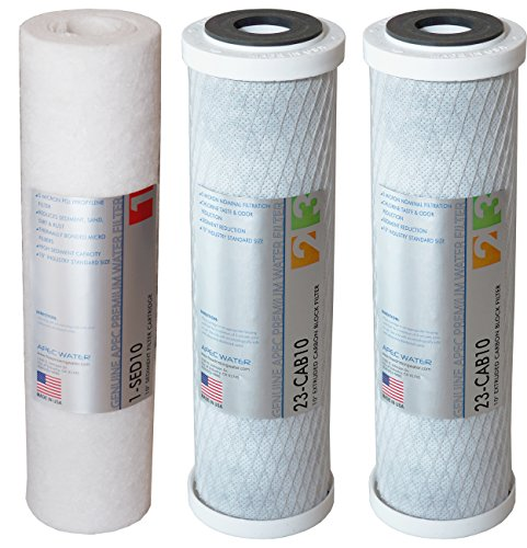 APEC Water Systems Filter-Set US Made Double Capacity Replacement Stage 1-3 for Ultimate Series Reverse Osmosis System, Standard , White