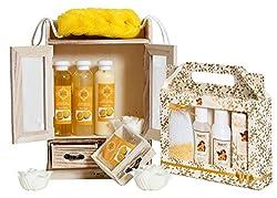 Badeset Wellness Geschenk Schwamm Massage Pflegeset Sauna Wellness