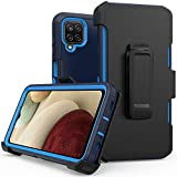xihaiying Phone Case for Samsung Galaxy A12 5G case,Heavy Duty Hard Shockproof Armor Protector Case Cover with Belt Clip Holster for Samsung Galaxy A12 5G Phone Case (Navy Blue)