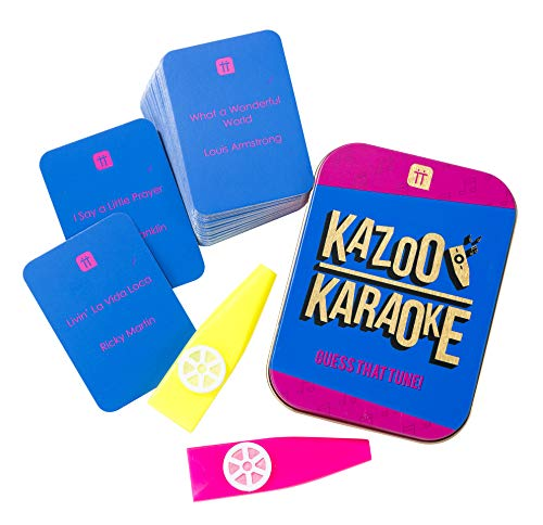 Talking Tables Kazoo Karaoke Party Game Music Trivia Cards Family Fun 2+ Players, Christmas