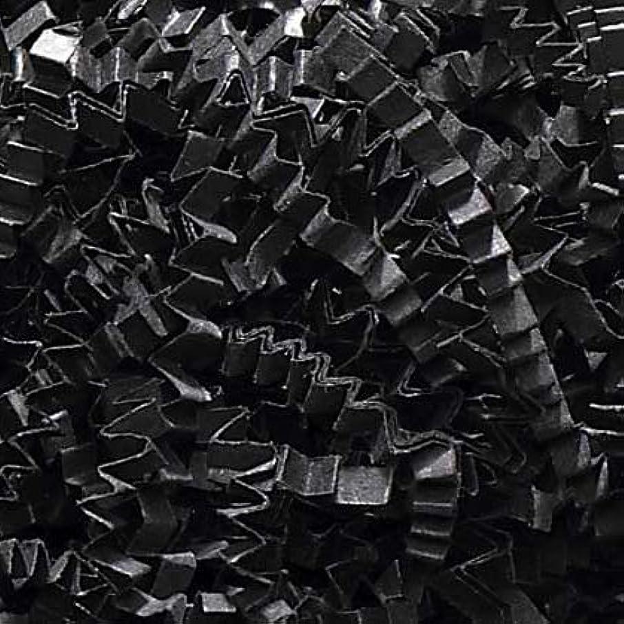 1/4 LB Crinkle Cut Paper Shred - Black - Gift Basket Filling by Uline