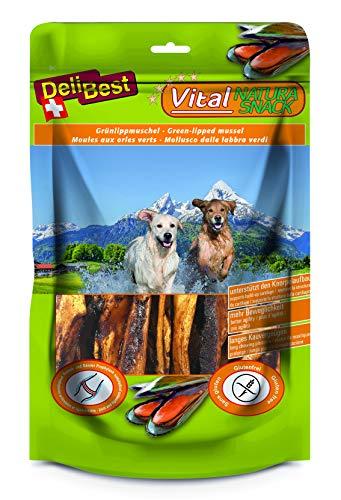 DeliBest Vital Natura Snack Meermuschel + Glucosamin I Kausnack für Hunde I für jedes Alter und jede Größe I auch zur Zahnreinigung perfekt geeignet I natürlicher Hundesnack I 200g Packung