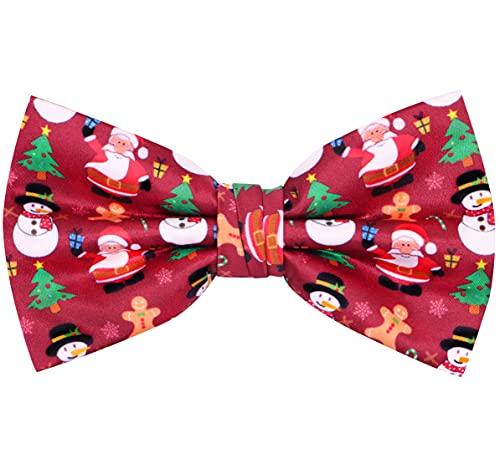OCIA Christmas Bow Tie Holiday Xmas Bow Tie Festival Pre-Tied Bowtie for Mens & Boys St Patricks Day Easter (Christmas)