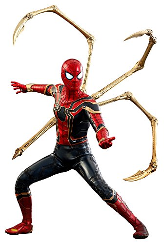 Hot Toys Movie Masterpiece 1/6 Scale Iron Spider Action Figure Spider-Man (Marvel Avengers 3 Infinity War Version) Spiderman Tom Holland