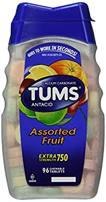 Tums Tums Antacid Plus Calcium Supplement Assorted Fruit, Assorted Fruit 96 tabs from Tums