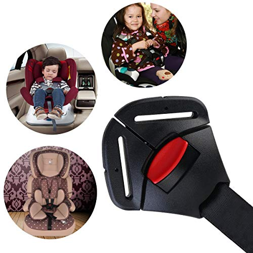 MuStone Car Baby Safety Seat Clip Fixed Lock Buckle, Seat Lock Belt Strap Harness Chest Buckle Clip for Children Child Clamp Closure (Black)
