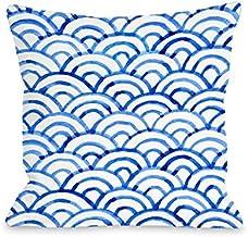 PalaceDesigns Almofada Scallop Ocean 44; Azul – 40,64 x 40,64 cm.