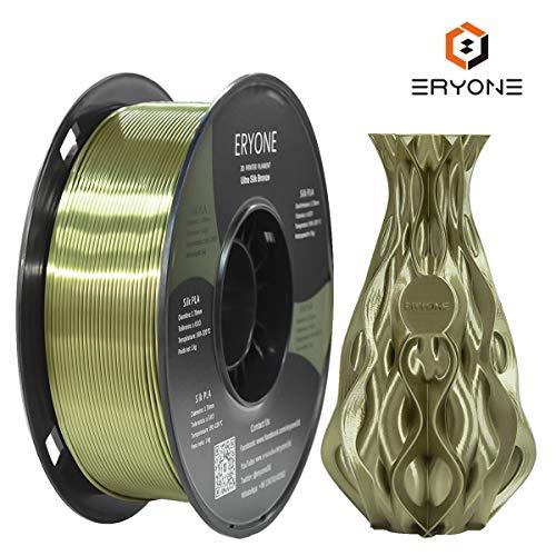 Ultra Silk Bronze PLA Filament 1.75mm, ERYONE 3D Printing Super Filament PLA for 3D Drucker and 3D Pen, 1kg 1 Roll