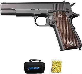 Pistola Full Metal | Pistola de Airsoft Calibre 6mm (Arma Aire Suave de Bolas de plástico o PVC). Sistema: Green Gas. 1 Julio.